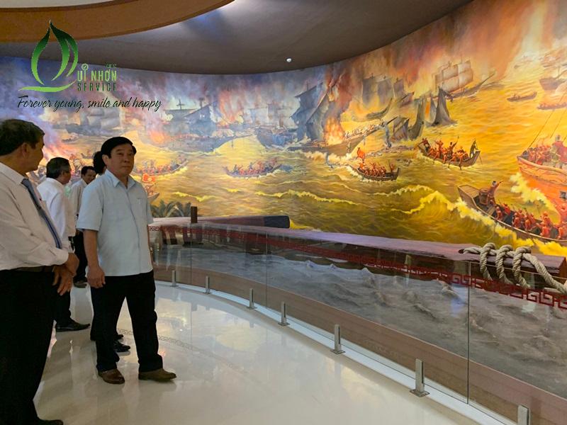 Bên trong bảo tàng Quang Trung