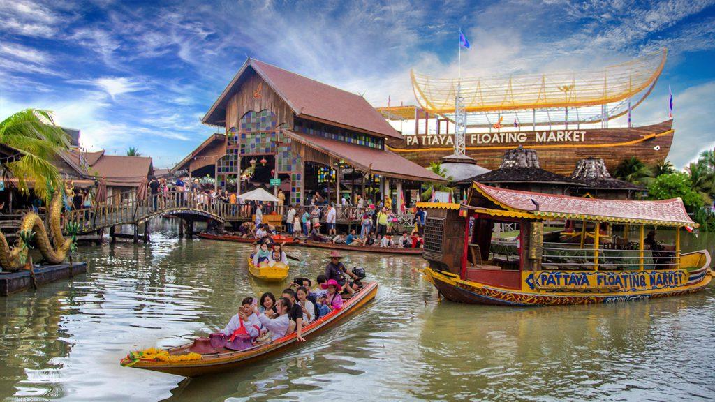 Chợ nổi 4 miền Pataya Tour Thái Lan từ Đà Nẵng